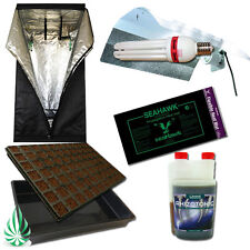 Seeding Propagation Cloning Grow Tent Combo W 2700K CFL Reflector Heat Mat