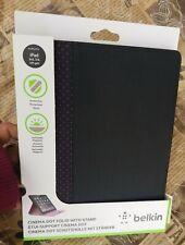 Belkin Cinema Dot Folio Case with Stand option for iPad 2/3/4 - Black / Magenta