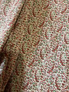 RALPH LAUREN HOME Floral Botanical Details 100% Cotton Flat QUEEN Bed Sheet EUC