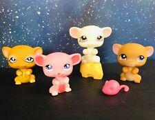 Littlest Pet Shop LPS - LITTLE MOUSE MICE LOT Cheese Accessories #462 #633 #324