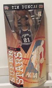 "NBA SUPERSTAR TIM DUNCAN 13"" FIGURE NIB 1999 MATTEL BASKETBALL"