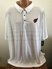 Nike Dri-fit Mens Short Sleeve Polo Shirt White Size 4xl NFL Arizona  Cardinals dbad228996