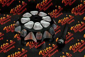 Vito's aluminum GAS CAP Yamaha Banshee YFZ450 Raptor 660 Warrior Blaster BLACK