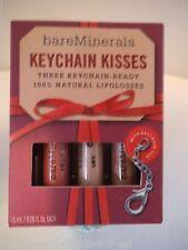 RARE~NEW Bare Escentuals Minerals KEYCHAIN KISSES 3 PIECE SET ~ LIMITED EDITION
