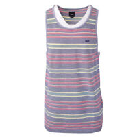 Vans Off The Wall Men's Blue/Red Striped Sleeveless Tank Top S09 (Retail $30)