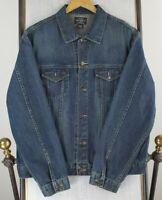 POLO RALPH LAUREN Size XL Mens Button Front Denim Trucker Bomber Jacket Cotton