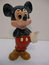 1960's Vtg Walt Disney Productions Ceramic Mickey Mouse Fig. Japan Cake Topper
