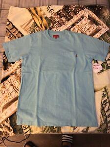 supreme pocket tee blue