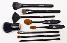 8Pc Makeup BrushSet:Eye Shadow, Liner, Concealer, Cream, Fan, Blush & Foundation