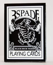 BLACK DECK TIGERS 3SPADE BICYCLE GAFF PLAYING CARDS BY ELLUSIONIST MAGIC TRICKS