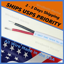 14/2 AWG Gauge Tinned Copper Marine Boat Duplex Wire Cable Red/ Black 250 Feet
