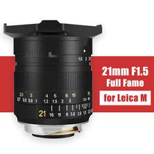 TTArtisan 21mm F1.5 Camera Lens Full Fame MF lens for Leica M Mount M-M M240 M3