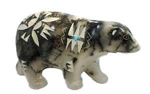 Native American Pottery Horse Hair  Walking Bear Navajo Indian  By Vail