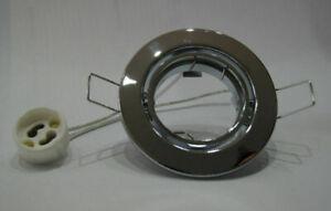 Metall Einbaustrahler Rahmen rund schwenkbar inkl. GU10 oder MR16 ver. Farben