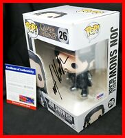Rare! Kit Harington Signed Game Of Thrones Autograph Jon Snow Funko POP PSA JSA