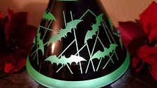 NEW~YANKEE CANDLE~Halloween Batty Bats Glass Jar Candle Shade Topper Med/Large