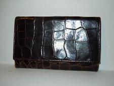 ETRO MILANO portafoglio in pelle stampa coccodrillo genuine leather