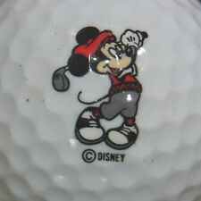 (1) VINTAGE MICKEY MOUSE DISNEY LOGO GOLF BALL (GREY PANTS & RED TOP)