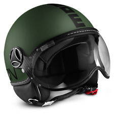 MOMO DESIGN FIGHTER CLASSIC JET HELMET MILITARY GREEN - BLACK SIZE M