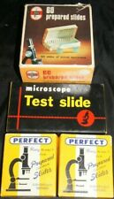 72 Vintage Prepared Slides Nos + 20 Test Slides Lot Microscope Perfect Specimens