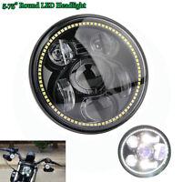 "5.75"" Moto 45W Projecteur W/ DRL LED Hi/Lophare 6500-7000K Headlight pour Harley"