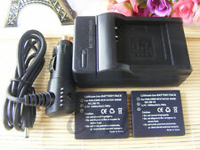 Two CGA-S008 CGAS008E DMW-BCE10 DMWBCE10 Battery and Charger for Panasonic