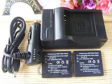 2X Battery +Charger for Panasonic Lumix CGA-S008 DMC-FS3 DMC-FS5 DMC-FS20 FX30