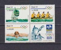 S19255) Brasilien Brazil 1991 MNH Neu Olympic Games 3v + Tab