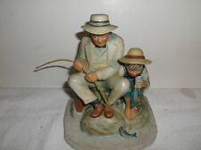 "Norman Rockwell Old Mill Pond Figurine 6 1/2 ""Tall Bisque Porcelain 1974 Gorham"