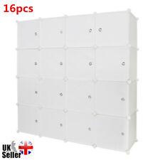 16 Cube DIY Storage Wardrobe Clothes Organizer Closet Cupboard Shoe Cabinet Unit