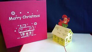 3D POP UP CARD CHRISTMAS CARD.