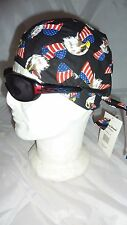 "zandana bandana ""aigle et drapeau américain "" harley, usa, moto,chopper, country"