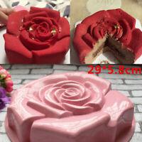 Rose Flower Silicone Cake Baking Tin Mold Nonstick Bakeware Pan Chocolate Mould