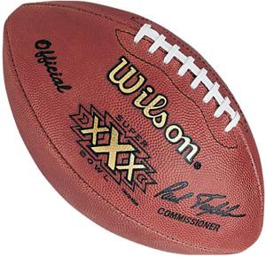 SUPER BOWL XXX 30 Authentic Wilson NFL Game Football - DALLAS COWBOYS