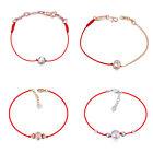 Fashion Women Austrian Crystal Red String Threads Rope Bracelets Bangles