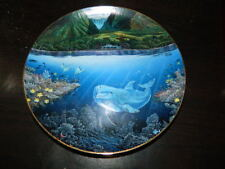 Robert Lyn Nelson Underwater Paradise Plate Chez Paul Danbury Mint Dolphin Fish