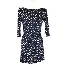 Prada Printed Rompers Dress Navy Long Sleeve Size 40