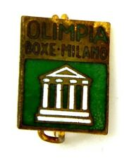 Spilla Con Smalti Olimpia Boxe Milano cm 1,1 x 1,3