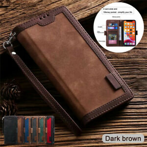 Luxury Leather Wallet Case Flip Card Phone Cover for Samsung S21 S10 S9 Plus A71