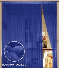 Fadenvorhang Vorhang Gardine Kaikoon 90 cm x 240 cm (BxH) blau