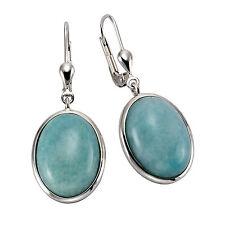 ZEEme Jewelry Ohrschmuck Ohrhänger 925 Sterling Silber rhodiniert Amazonit