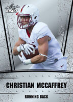 10 ct lot 2017 Leaf Silver Draft CHRISTIAN MCCAFFREY Rookies CAROLINA PANTHERS
