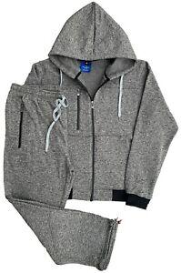 Men's Soft Fleece Warm Sweat Jacket & Sweatpants Fleece suit (M to 5XL)