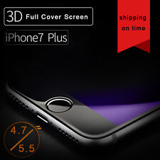 Anti Blue-Ray 3D Curved Tempered Glass Flim Screen Protector For iPhone 6 7 Plus