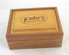 Faders Tobacconists Humidor Solid Walnut  Man Cave, Den, or Cabin