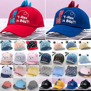 Baby Kids Boys Girls Cartoon Hat Newborn Baseball Cap Beret Summer Sun Visor Hat