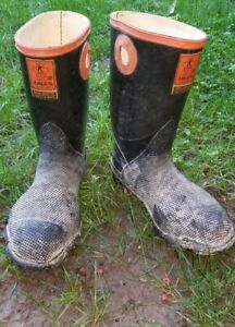 Men's Vintage Kaufman Argus Steel Toe Rubber Boots  Made in Canada, Men 7