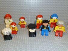 LEGO® DUPLO VILLE 9 X Figur MECHANIKER BAUARBEITER Polizist Rennfahrer F751