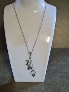 Tiffany & Co. Silver 925 Love Notes Dangle Charms Pendant Necklace