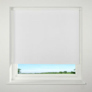Roller blinds plain blackout white square edge up to 2.5 mts wide